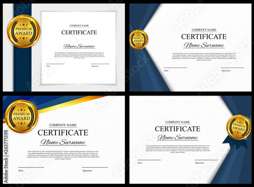 Certificate template Background Collection Set Canvas Print
