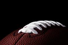 American Football On Dark Background.