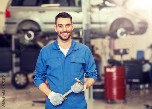 Tela car service, repair, maintenance and people concept - auto mechanic man or smith