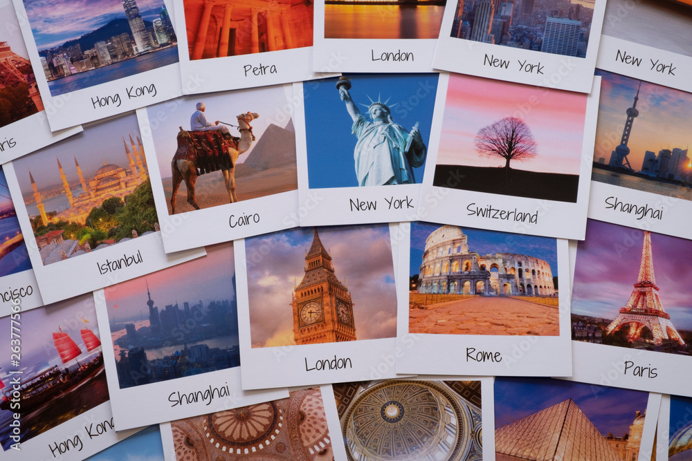 Fototapety, obrazy: Postcards of different travel destinations - copyright for the images owned by the artist