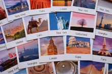 Postcards Of Different Travel Destinations - Copyright For The Images Owned By The Artist