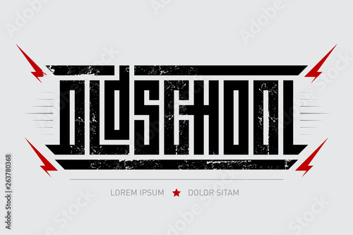 Photo Oldschool - brutal font for labels, headlines, music posters or t-shirt print