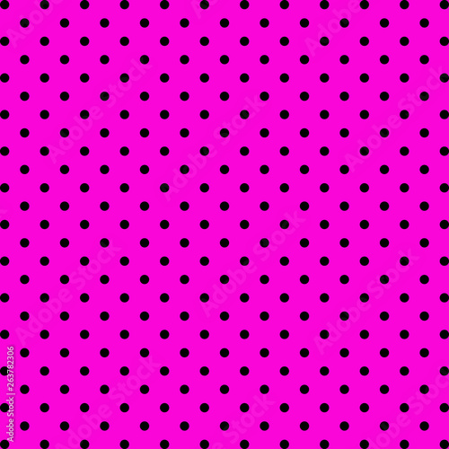 Photo  Black dots on pink background. Vector