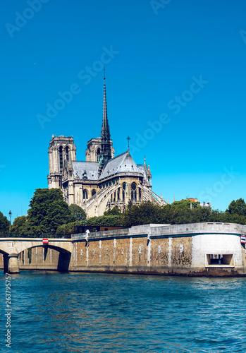 Fotobehang Historisch mon. Notre Dame de Paris, vertical