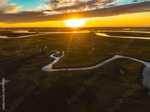 Glynn Marsh Sunrise Wallpaper Mural
