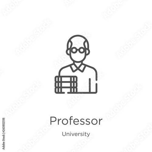 Fototapeta professor icon vector from university collection