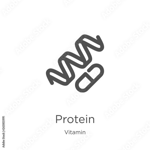 protein icon vector from vitamin collection Fototapeta