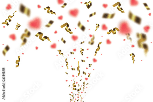Fotobehang Macrofotografie Colorful bright confetti isolated on transparent background. Festive vector illustration