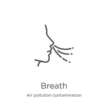 Breath Icon Vector From Air Po...