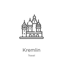 Kremlin Icon Vector From Trave...