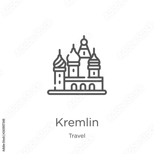 Obraz na plátně kremlin icon vector from travel collection
