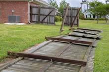 Fence Blown Down And Damaged During Storm