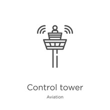 Control Tower Icon Vector From...