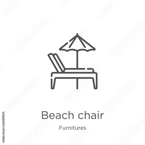beach chair icon vector from furnitures collection Canvas Print