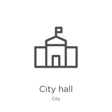 City Hall Icon Vector From Cit...