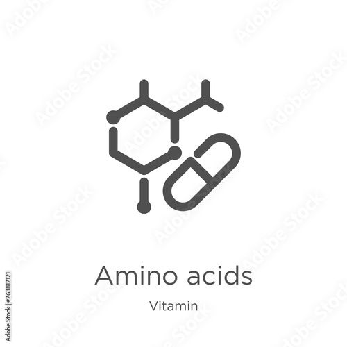 amino acids icon vector from vitamin collection Wallpaper Mural