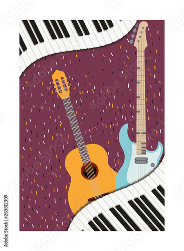 Photo musical instruments isolated icon