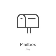 Mailbox Icon Vector From City ...