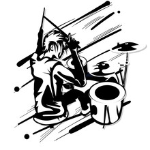 Drummer Music Graphic