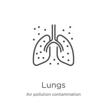 Lungs Icon Vector From Air Pol...