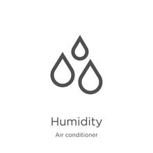 Humidity Icon Vector From Air ...