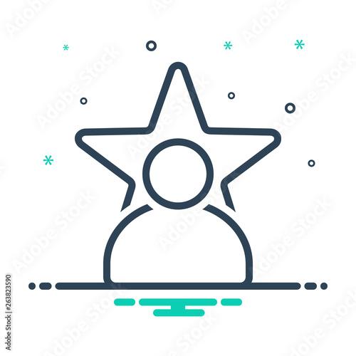 Fotografía  Mix line icon for celebrity