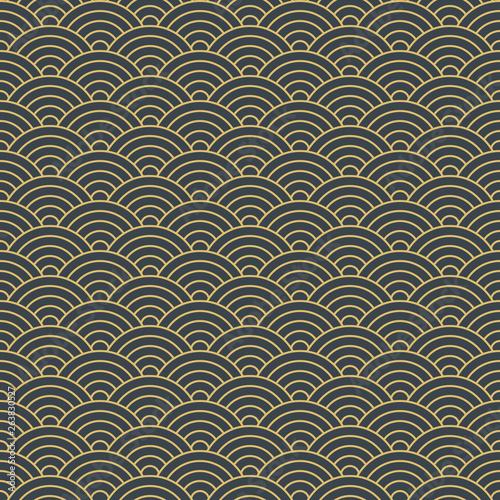 Fototapeten Künstlich japanese geometric seamless pattern