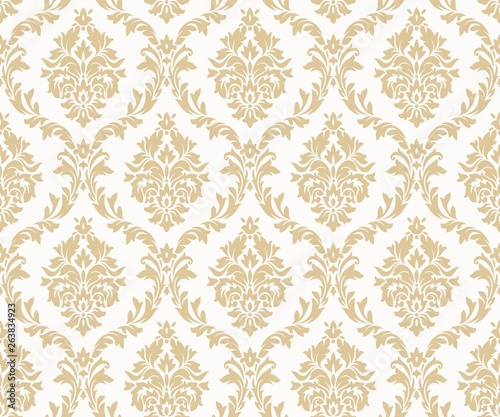 Photographie Vector seamless damask gold patterns