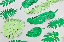 Tropical Green Leaves Handmade...