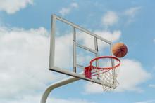 Glass Basketball Backboard With Floating Basketball