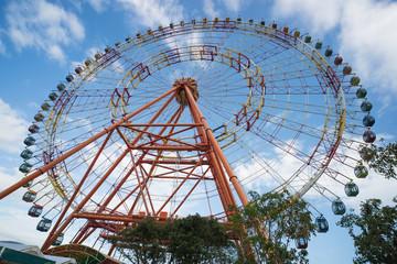 Ferris wheel joy sky clouds amusement Park