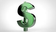 3d Green Dollar Symbol