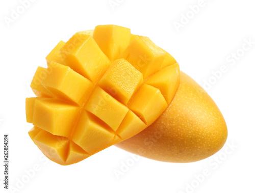 Fototapeta mango fruit isolated on white background
