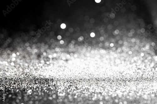 Fotografia  Silver dust metal sand glitter abstract background texture Luxury and elegant de