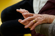 hands of senior woman