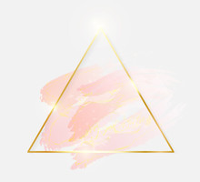 Gold Shiny Glowing Triangle Fr...