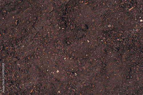 Poster de jardin Nature Potting soil top view texture