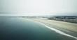 Aerial, beach in San Francisco