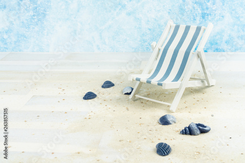 Awesome Maritime Background With Sand Shells And A Blue And White Caraccident5 Cool Chair Designs And Ideas Caraccident5Info