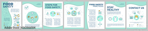Fototapeta Food safety, hygiene brochure template layout obraz