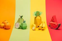 Various Handmade Paper Fruits ...
