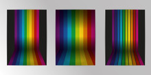 Vector Rainbow Colored Wall Wi...