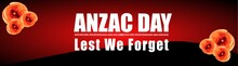 Illustration Of Anzac Day Poster Or Banner Background