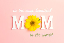 Mothers Day Message With Yello...