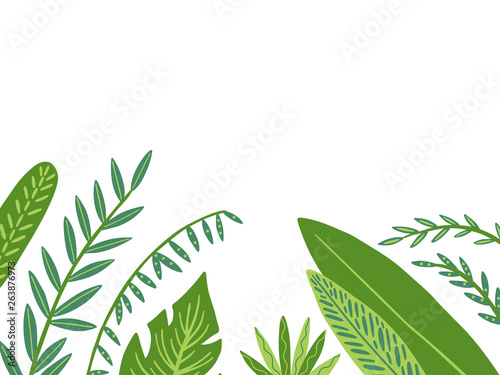 Frame From Tropical Leaves In Doodle Style Vector Hand Drawing Design Elements Buy This Stock Vector And Explore Similar Vectors At Adobe Stock Adobe Stock Perfect for wedding, invitations purchased item: doodle style vector hand drawing