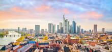 View Of Frankfurt City Skyline...