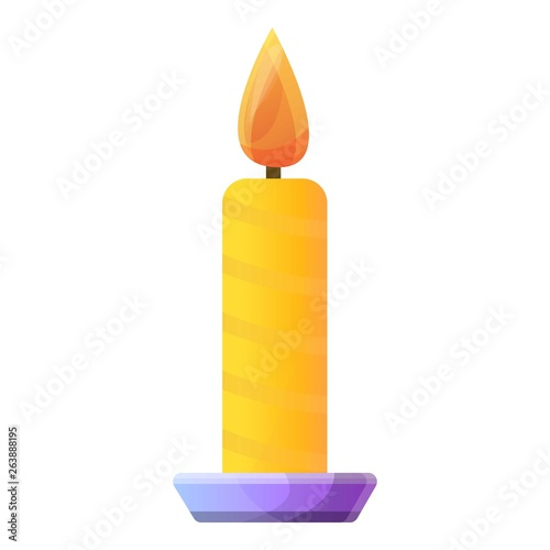 Burning candle icon Wallpaper Mural