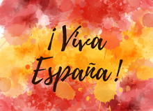 Viva Espana - Watercolor Abstr...