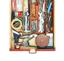 Old Do It Yourself Work Tools In A Drawer