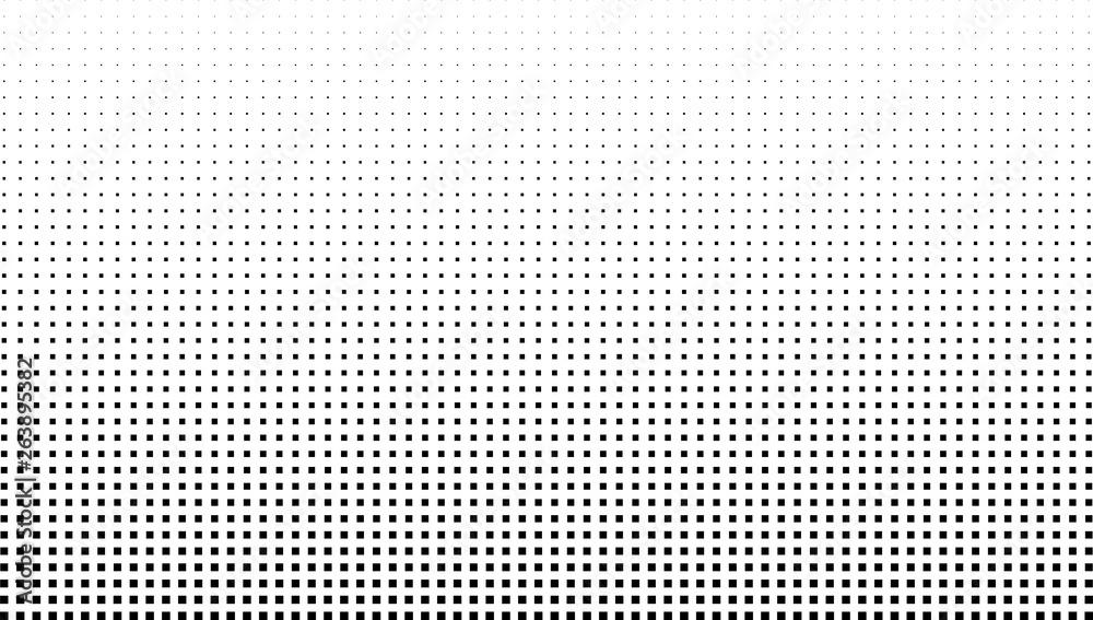 Fototapety, obrazy: Vector halftone effect background. Monochrome square dots